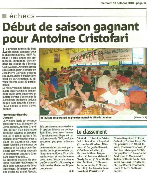 Début de saison gagnant pour Antoine Cristofari