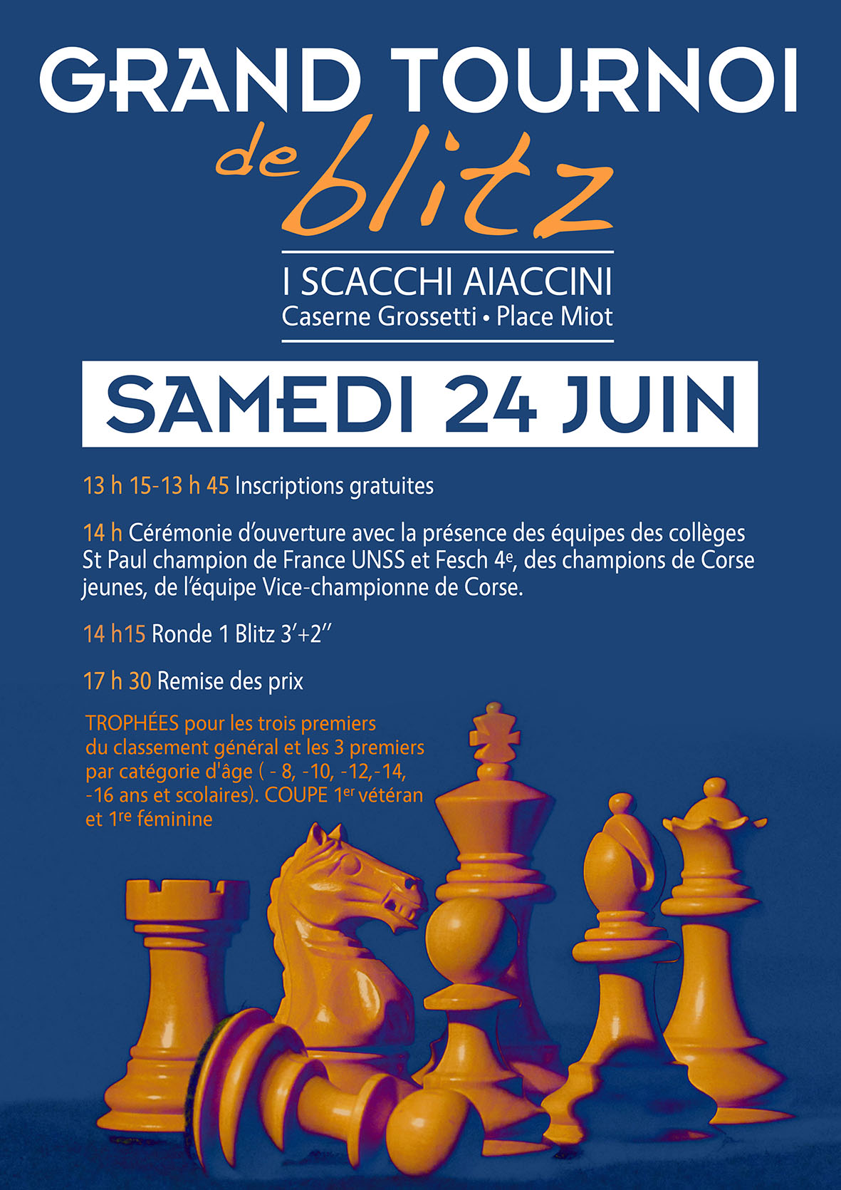 GRAND TOURNOI DE BLITZ I SCACCHI AIACCINI