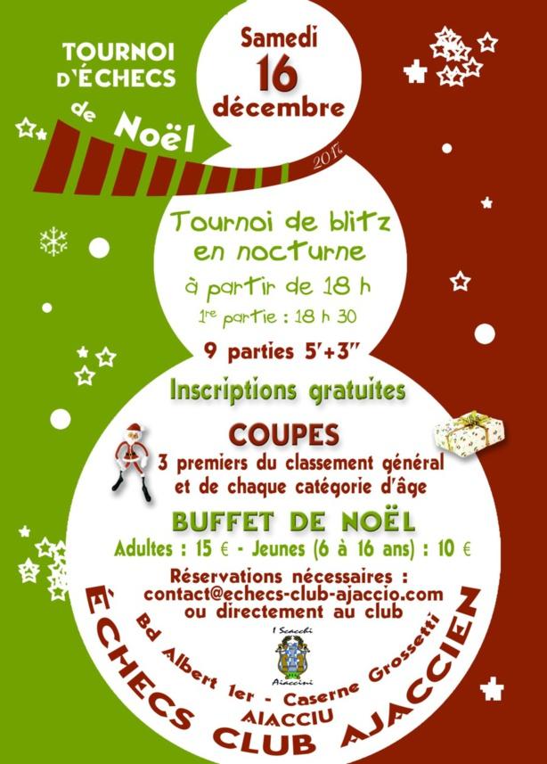 Tournoi de Noël samedi 16 décembre