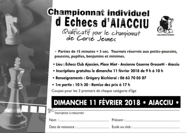 Qualificatif du championnat corse jeune dimanche 11 février