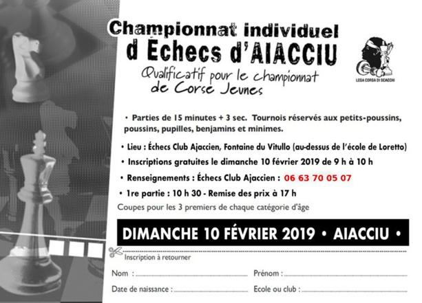 Qualificatif du championnat corse jeunes 2019 ce dimanche 10 février