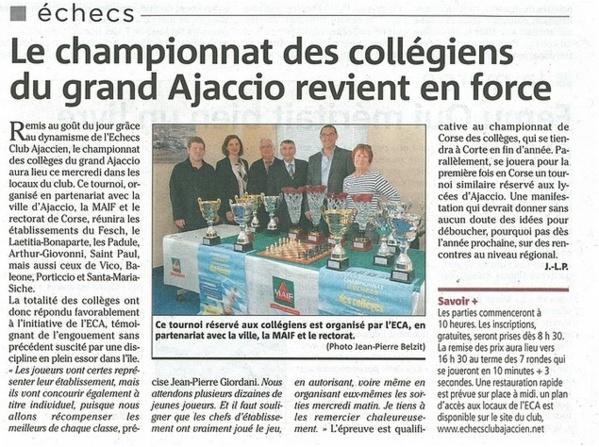 Le championnat des collégiens du Grand Ajaccio revient en force