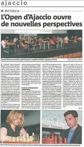 L'Open d'Ajaccio ouvre de nouvelles perspectives