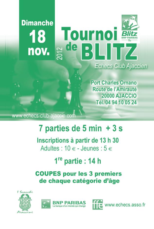 """2ème TOURNOI MENSUEL DE BLITZ """"BNP PARIBAS"""""""