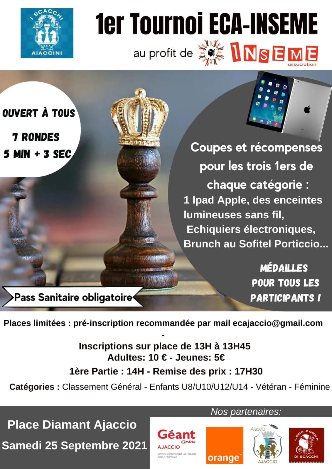 1 er tournoi ECA-INSEME 25/09/2021 Place du Diamant