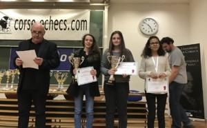 Championnat de Corse des jeunes: Chjara Carbuccia championne, Lou Andrea Geronne et Corentine Pierrot vice-championnes